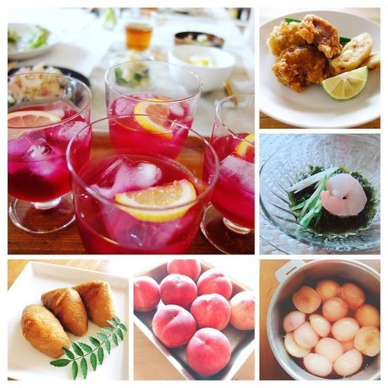 いなり寿司と香味野菜を楽しむ和食