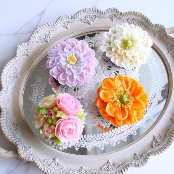 まるで生花のような透明感♡フラワーケーキ基礎レッスン