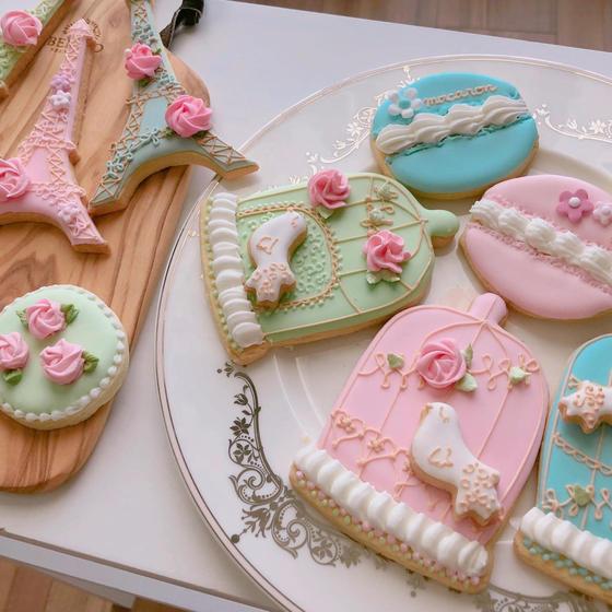 アイシングクッキー基礎1(パイピング特訓とクッキーレシピ)