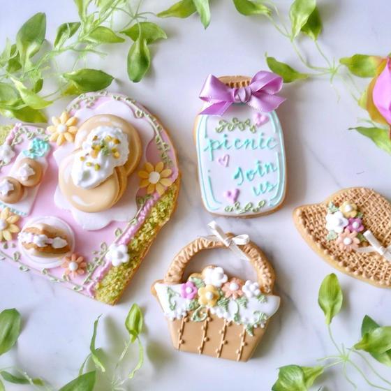 【6月7月限定】お花畑のピクニック♪アイシングクッキー
