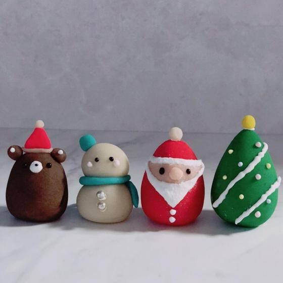 和菓子職人が教える「サンタと雪だるまの練り切り」教室
