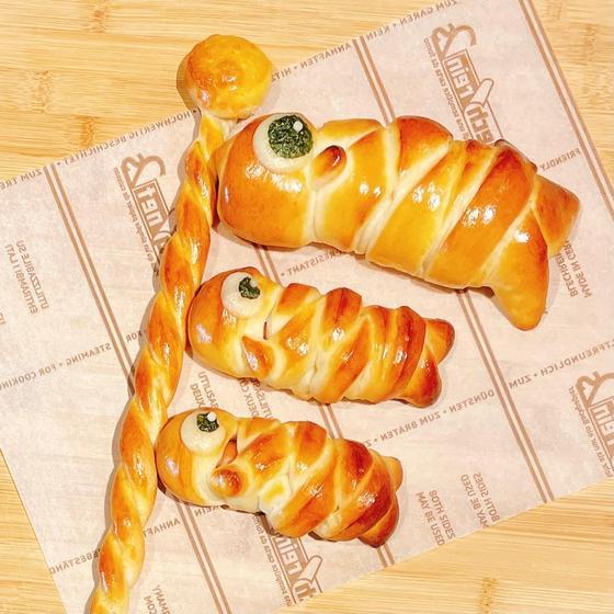 鯉のぼりのウインナーロールパン作り(まきちゃん)