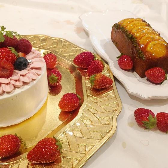 フリフリショートケーキとオレンジケーキ