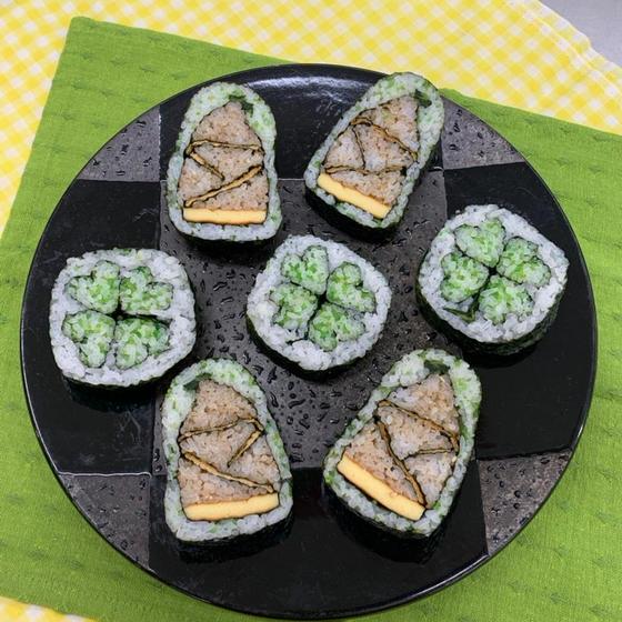 春の飾り巻寿司