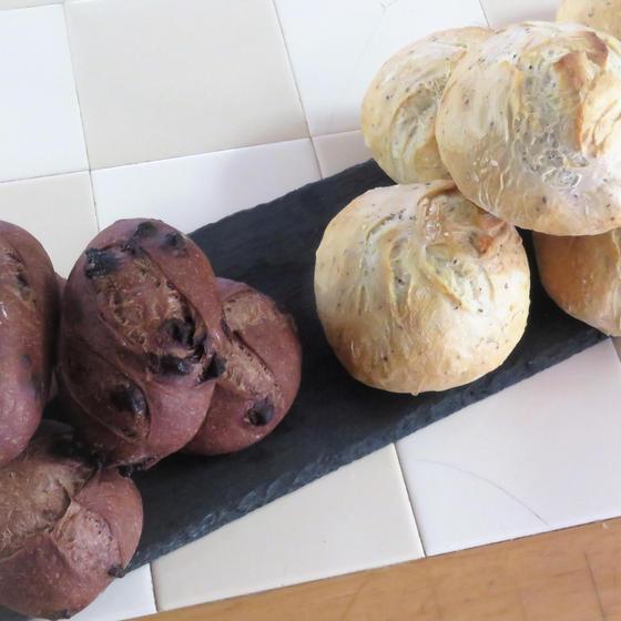 ハードパン二種 チョコフランス・紅茶とオレンジのハードパン