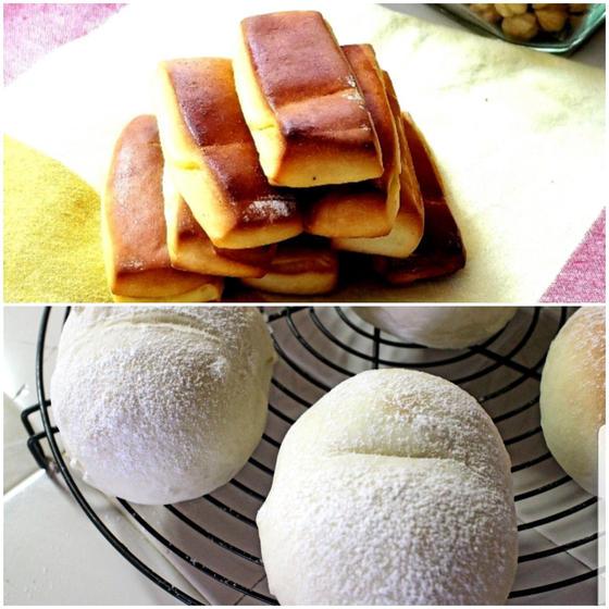 ハイジに白パンとレモンのスナックパン