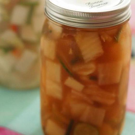豆もやしご飯&夏のキムチ2種(きゅうり、水キムチ)