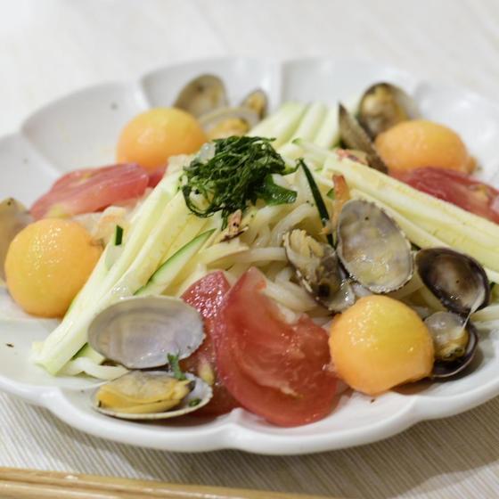 【教室レッスン】夏野菜とメロンのボンゴレ麺でチアアップ!