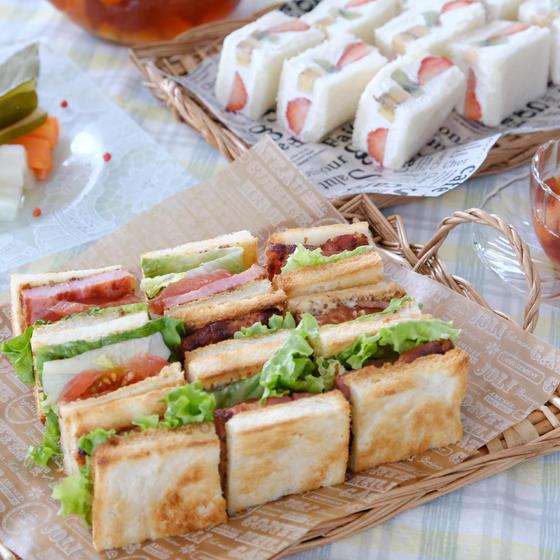 お弁当が華やぐサンドイッチ