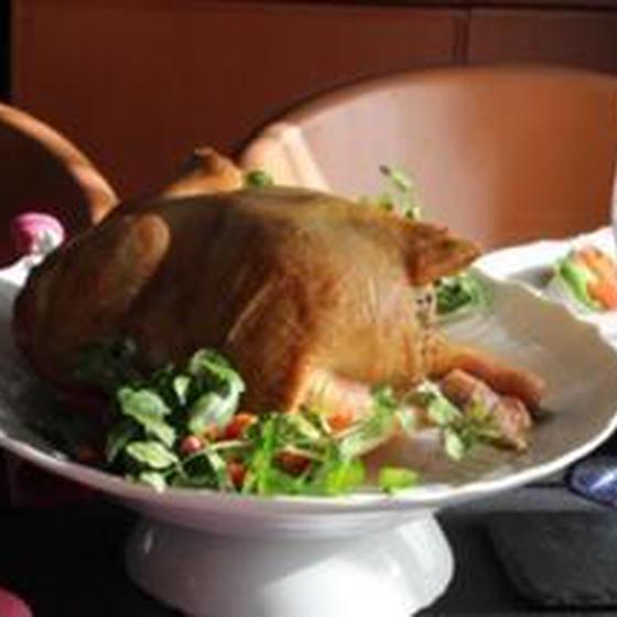 リクエストメニュー鶏の丸焼き・クリスマスではありませんが