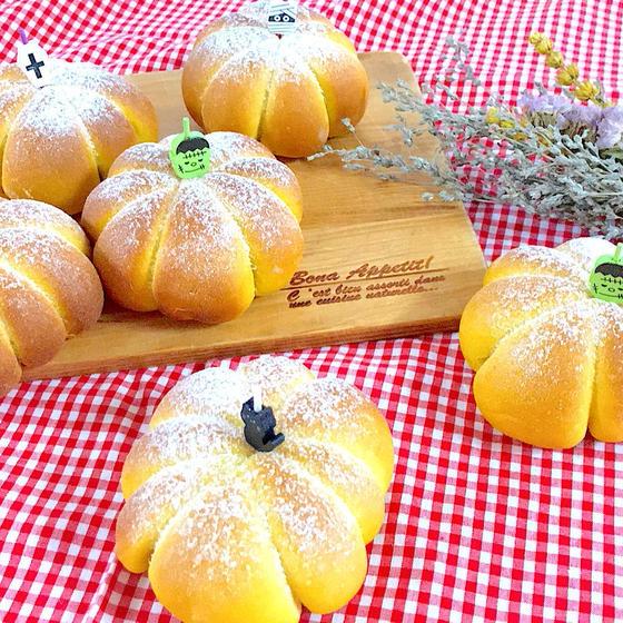 ふわふわもっちもちのかぼちゃチーズパン