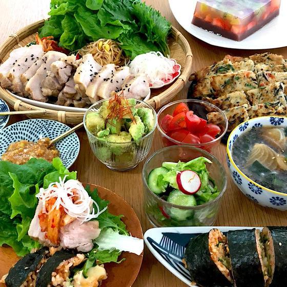 野菜たっぷり!柔らかポッサムにチーズキンパ身体喜ぶ韓国料理