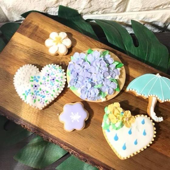 紫陽花 アイシングクッキー♡