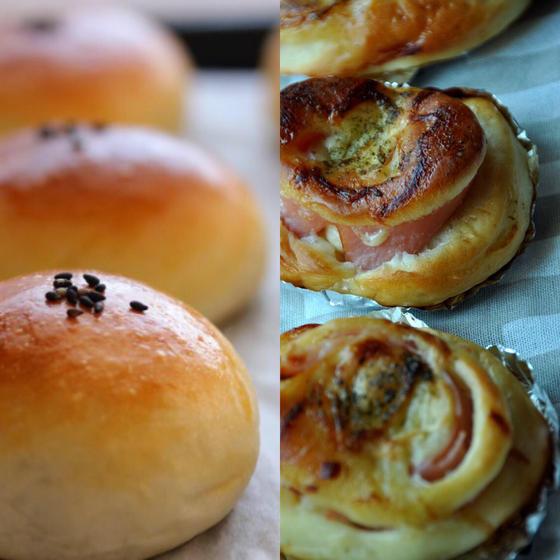 【体験】選べるマヨハムロール・こしあんパン