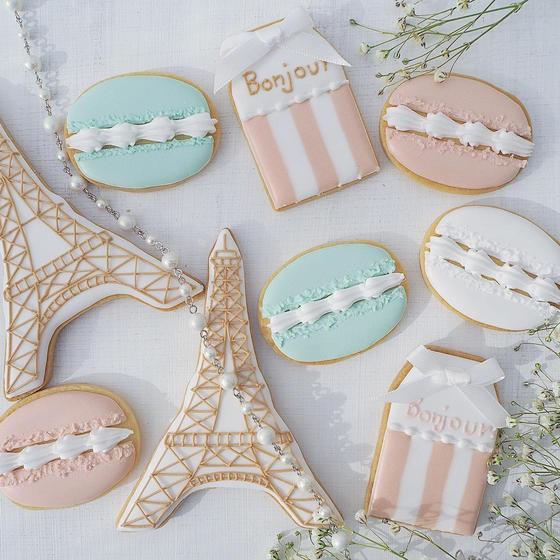 オシャレなフランステーマのアイシングクッキーレッスン