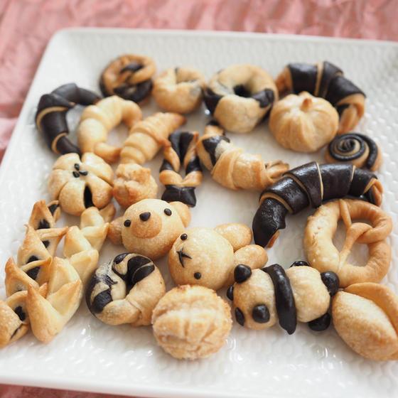 【レシピPDF教室利用可】大人も子供も楽しめる・飾りパン動画