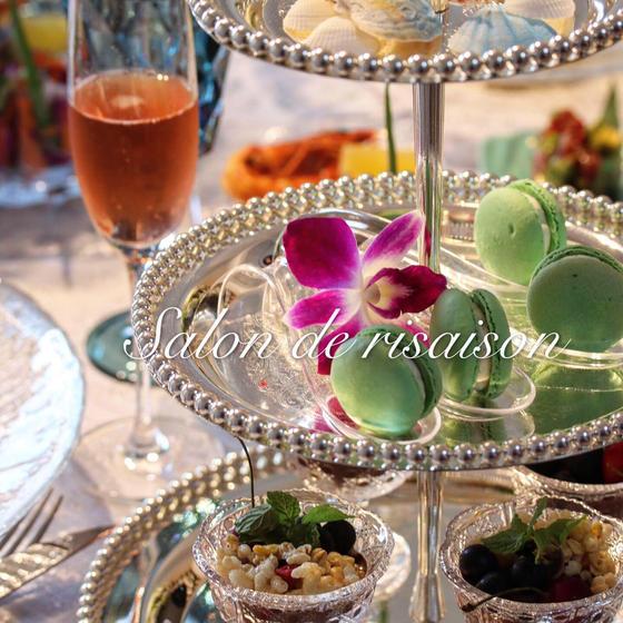 ハワイ料理× champagne × テーブルコーディネート