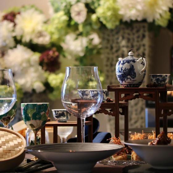 中華料理 × wine × テーブルコーディネート