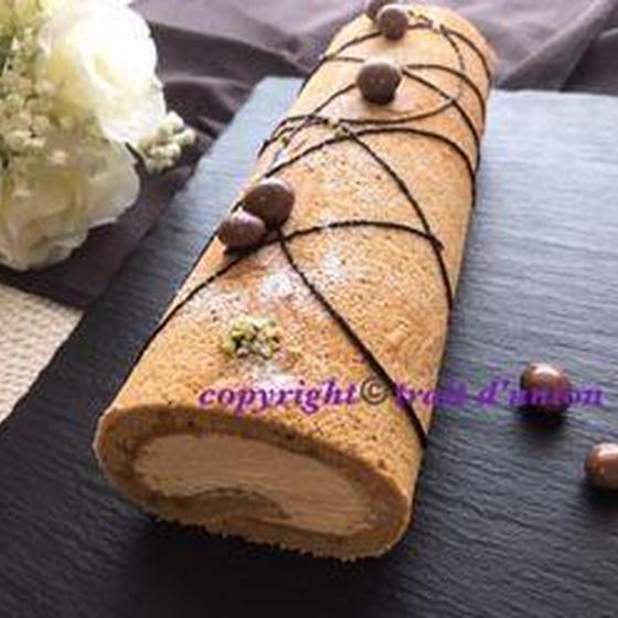 米粉で作るコーヒーシフォンロールケーキ