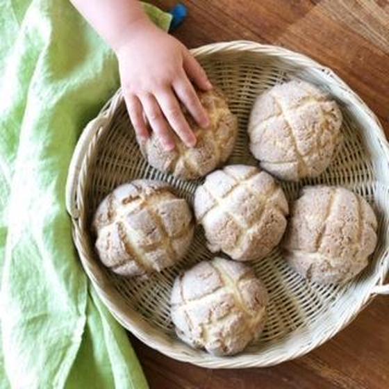 天然酵母でつくるメロンパン(あこ酵母)