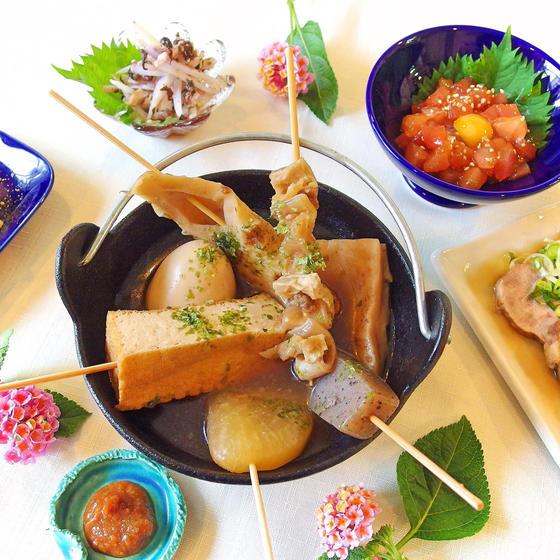 【おでん横丁へようこそ!】静岡おでんと鮮魚ユッケ他、全5品♪