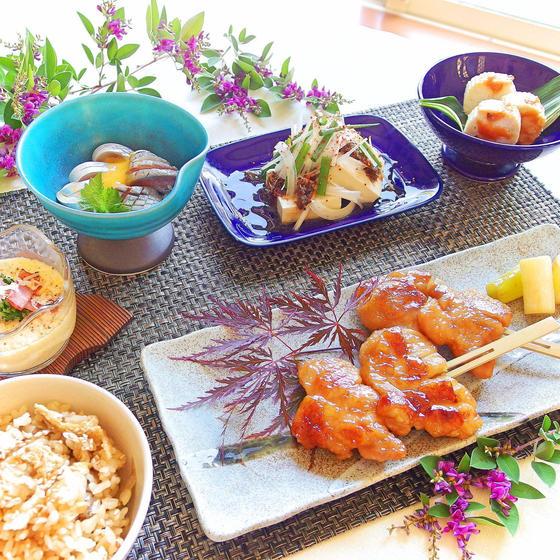 【居酒屋直伝】鶏の鍬焼き&初夏を彩る小鉢達