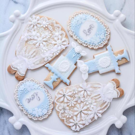 天然色素のアイシングクッキー「Wedding」レッスン