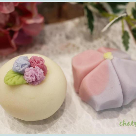 和菓子レッスン 初級 ~綺麗な紫陽花を咲かせよう~