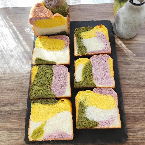 4色野菜食パン☆☆