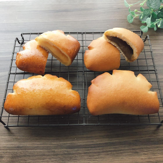クリームパン☆☆☆ 2種のカスタードクリーム