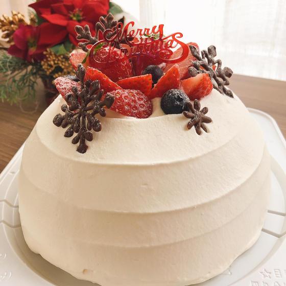 クリスマスのドームケーキ