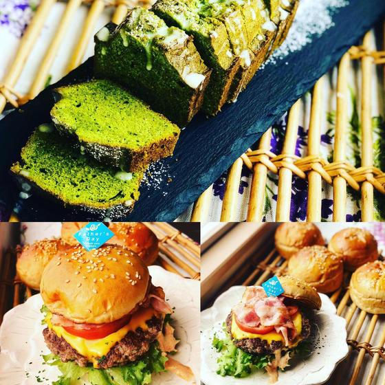 6月ダブル 究極の京抹茶ケーキ&究極の自家製ハンバーガー