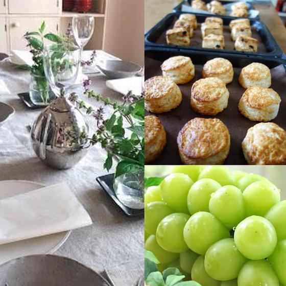 スコーンと夏野菜を楽しむ食卓