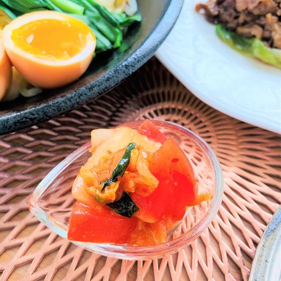 トマトとキムチのナムル