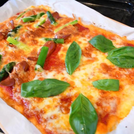 ハーフ&ハーフで おいしさ2倍の米粉ピザ
