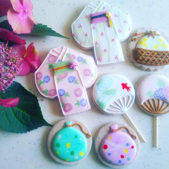 9月のレッスン募集 日本の夏 浴衣クッキーを作ろう♪