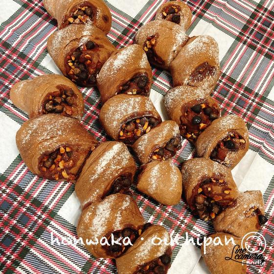 発酵時間を使いチョコとナッツのエピ