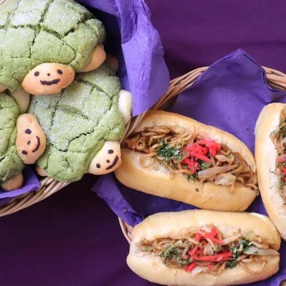 天然酵母を使ったメロンパンと焼きそばパン 英語でレッスン