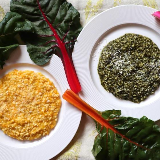 野菜のリゾットとめかじきのあぶり焼き&ハッピーアワー