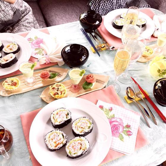 薔薇の飾り巻き寿司とプチ薬膳料理教室
