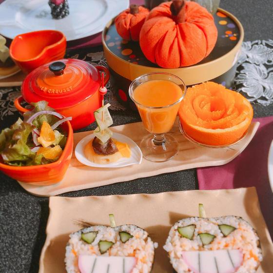 ハロウィンの飾り巻き寿司とプチ薬膳料理教室