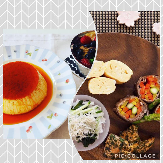 よくばり(料理基礎Aと5月のお菓子)