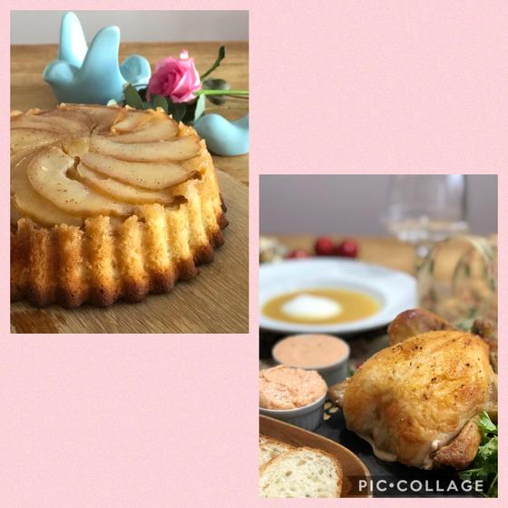よくばり・ローストチキンと林檎ケーキ