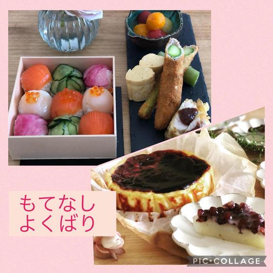よくばり・手毬寿司とバスク&水無月