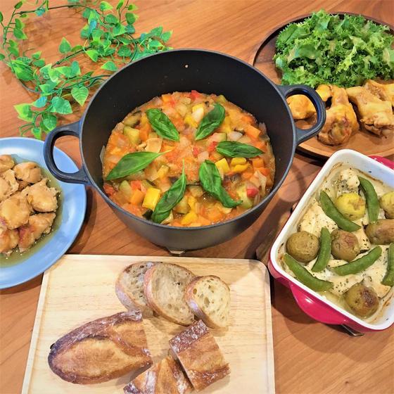鶏肉のレパートリーを増やそう&夏野菜の『重ね煮』ラタトゥイユ