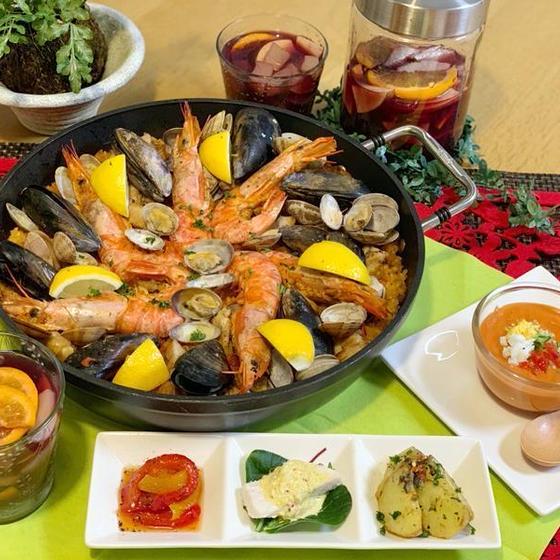 「パエリアをフライパンで簡単につくろう」 スペイン料理5品