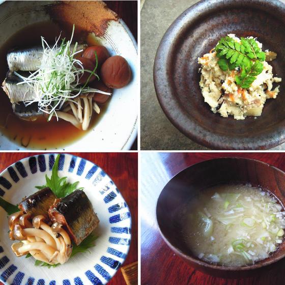 料亭の味!いわしの梅煮・おから炒り煮・味噌汁の基本など