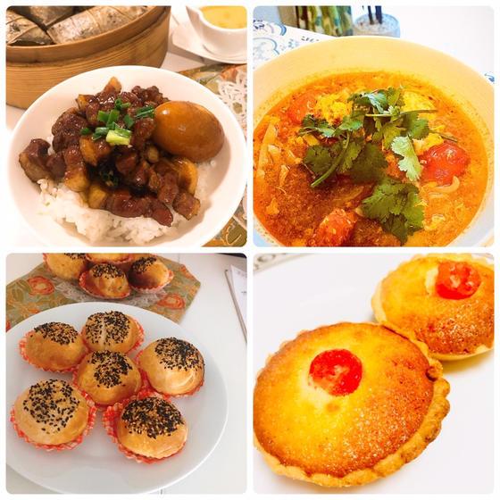 台湾名物胡椒餅、ココナッツタルト、ルーロー飯レッスン