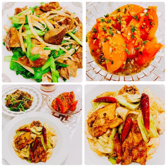 定番中華:大人回鍋肉、あっさりレバニラ炒め、絶品トマトサラダ