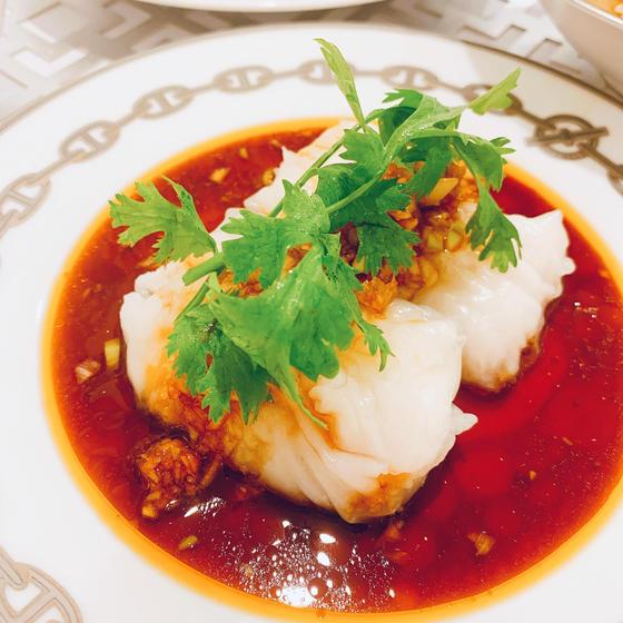 夏中華レッスン:白身魚の包み蒸しネギソース